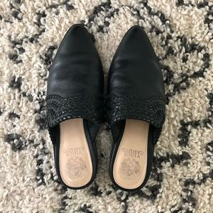 Vince Camuto Sona Casual Black Mules